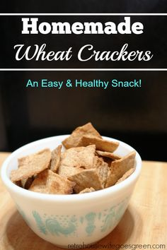 These homemade wheat crackers are very simple and use good ingredients. You will feel good serving these crackers to your family!