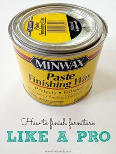 This gives the best finish to painted furniture! Click through for a great tutorial on how to paint furniture like a pro.