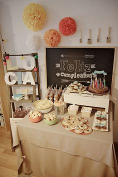 Fiesta de cumpleaños de artistas! Baby Birthday, Birthday Parties, Happy Brithday, Z Craft, Happy Party, Candy Table, Diy Projects To Try, Pink Girl, Party Planning
