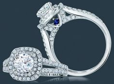 Zales Vera Wang lovesreuck collection ring- the blue is for faithfulness and everlasting love ♥
