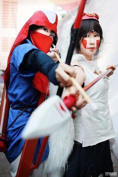 """ Spring days"" fesstival Project Mononoke hime ******* Me as prince Ashitaka Wao as San Costume of ashitaka and San's dress made by me Armor made by Wao. Past Love, My Past, Halloween Cosplay, Cosplay Costumes, Sans Cosplay, Anime Cosplay, Princess Mononoke Cosplay, Hayao Miyazaki, Studio Ghibli"