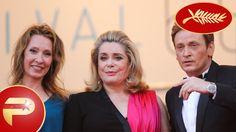Zie in deze video hoe de cast en crew van de film Cannes binnenwandelt.