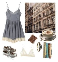 """..cappuccino time.."" by francescaschiavo on Polyvore featuring moda, Eberjey e Converse"