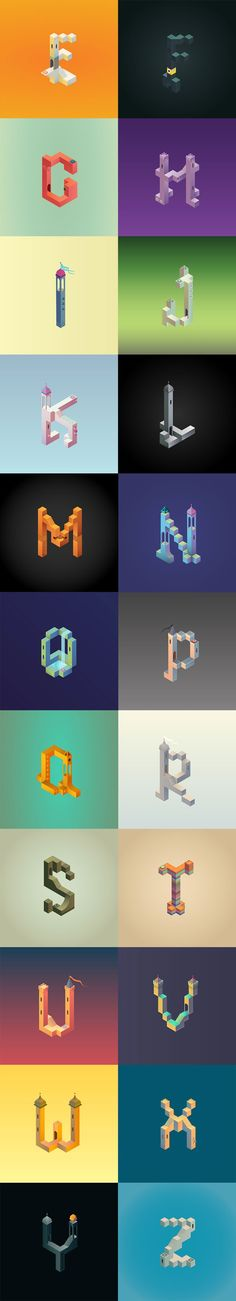 Monument Valley alphabet
