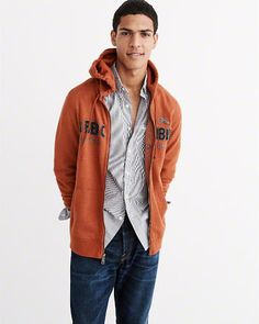 Unmatched in softness, Abercrombie & Fitch Men's Hoodies are designed to fit perfectly, look classically cool and be incredibly comfortable. Red Leather, Leather Jacket, Hoodies, Sweatshirts, Abercrombie Fitch, Rain Jacket, Windbreaker, Jackets, Men