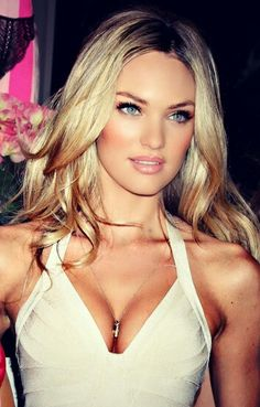## Candice Swanepoel. She makes me want blonde hair !