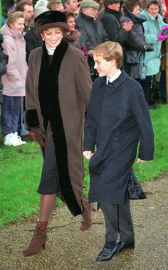 December 25, 1994: Princess Diana's last Christmas service with the Royal Family at Sandringham.
