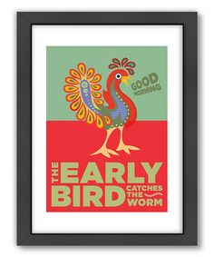 Look what I found on #zulily! Red 'The Early Bird' Wall Art #zulilyfinds