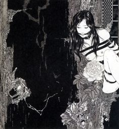 Takato Yamamoto For me Takato Yamamoto is the perfect mix of art nouveaux illustration (mostly harking to the work of Aubrey Beardsley) and the more horror/gore end of Ukiyo-e - looking at the work of. Art And Illustration, Yamamoto, Ero Guro, Art Chinois, Art Japonais, Japan Art, Macabre, Erotic Art, Dark Art