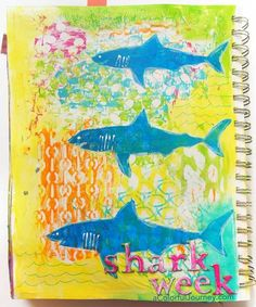 I remember Shark Week from when I was a kid so I decided to make a video and art journal page in honor of it