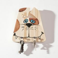 Original Wooden Key Holder  Cute Puppy