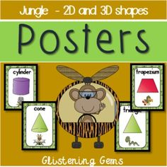 Shape Posters- Jungle Theme - Back to SchoolThese colorful, chevron posters are perfect to decorate your classroom in preparation for being back at school. This shape pack includes:* 10 full-page shape posters for circle, triangle, square, rectangle, rhombus, trapezium, oval, pentagon, hexagon and octagon, * 7 full-page shape posters for sphere, cube, pyramid, cone, rectangular prism, triangular prism and cylinder.