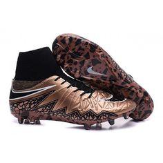 6294ca3fdfca 2015 Nike Mens Hypervenom Phantom II FG Football Boots Cannelle Black White  Cheap Soccer Shoes
