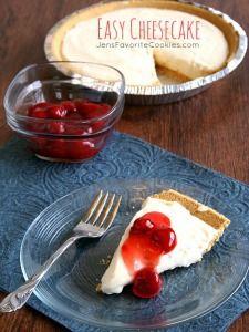 Easy Cheesecake... plus 1/5 teaspoons vanilla extract