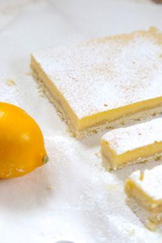 Lemon bar , barres au citron