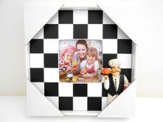 Concepts Kitchen Chef Picture Frame w/Black & White Checkers in Home Decor New
