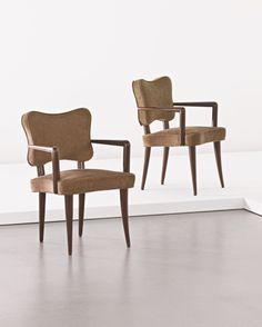 """Jean Royere, fauteuils bridge """"trèfle"""" 1953"""