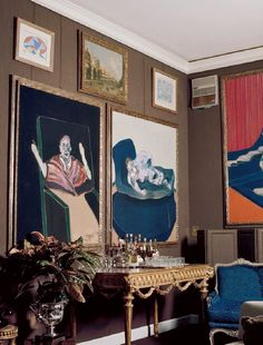 Sophia Loren's home with Francis Bacon paintings