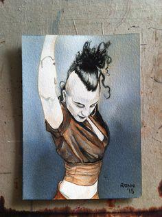 'Sonya Tayeh' - ink portrait - 13cm x 18cm - paper