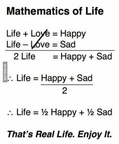 Mathematics of Life, funny Math Quotes Quotes About Attitude, Good Thoughts Quotes, Deep Thoughts, Sad Life Quotes, Life Lesson Quotes, Reality Quotes, True Quotes, Words Quotes, Quotes Quotes