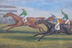 The Emperor's Cup, C19th Racing Scene, Oil on Canvas - Foxhouse Fine Art | Selected Works of Art, Ceramics & Glass, Jewellery & Pictures