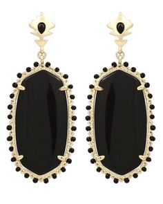 Dalton Earrings in Black. Kendra Scott new for fall