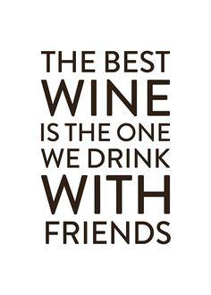 The best wine, affiche dans le groupe Affiches / Affiches de citations chez Desenio AB (8289)