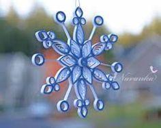 Znalezione obrazy dla zapytania quilling snowflake