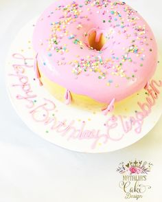 Save this for Giant Donut Cake dessert inspiration for your next party.