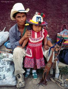 Lenca Indian people in Gracias, Honduras