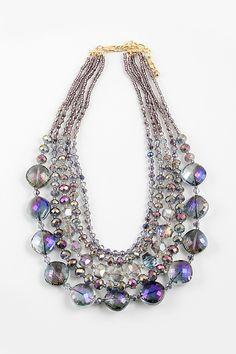 Crystal Capri Necklace in Midnight Vitrail on Emma Stine Limited