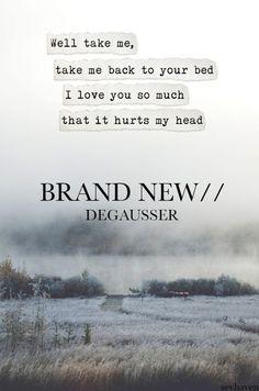 Brand New Lyrics It Hurts Me, Love Hurts, Music Words, Music Lyrics, Sing To Me, Me Me Me Song, Pop Punk Lyrics, Brand New Lyrics, Love You So Much