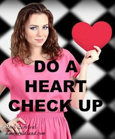 """""""Do a Heart Check"""" Don't miss today's commentary. Do a heart check. Evaluate your relationship with God. April 6 - Soul Survival"""