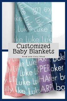 Mar 1, 2020 - Check our classic collection of baby blankets! Personalize with your childs name and choice of background color. Size Options: ♥ Small 30x40 - baby blanket size ♥Medium 50x60 - throw size ♥ Large 60x80 -twin size PRODUCTION: ♥ Please scroll down in listing to see current ship by date and