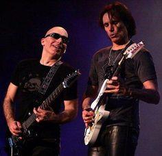 Joe Satriani and Steve Vai