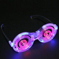 Creative Malt Ring LED Flashing Round Plastic Glasses