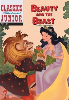 GCD :: Cover :: Classics Illustrated Junior - Beauty and the Beast Vintage Children's Books, Vintage Comics, Comic Book Covers, Comic Books, French Fairy Tales, Mort Walker, Roman, Classic Comics, Book Images