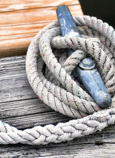 One of my favorite things about sailing is tying the knots, even though I need some practice