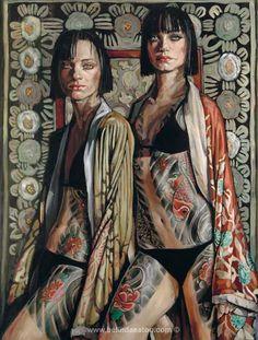 Kimono Girls (2009) by Belinda Eaton