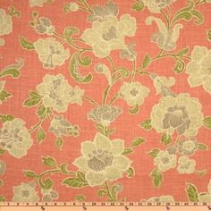 beautiful salmon color - make a great bedroom chair covering.