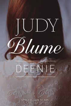 Deenie – Judy Blume http://books.simonandschuster.com/Deenie/Judy-Blume/9781481410373