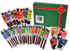 Wild Game Jerky by Buffalo Bob's - 33 Piece Exotic Gift Pack (Contains Elk, Alligator, Antelope, Buffalo, Duck, Kangaroo, Ostrich, and Pheasant) Buffalo Bob's