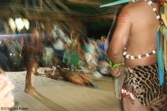 This is the Shaman's wife performing the healing ceremony for us in the Amazon Jungle.
