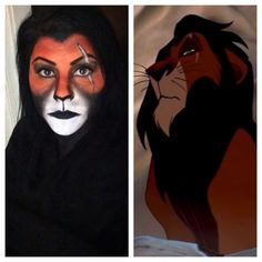 Scar from lion king (makeup halloween)