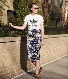 15 Ways to Style the Classic Adidas Tee Everyone's Wearing   StyleCaster