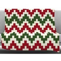 KESS InHouse Christmas Gram Fleece Blanket $80.99 by AllModern