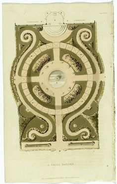Periwinkle - (via french garden plan | Le Jardin Illustré |...