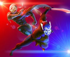 Red x and blue spirit