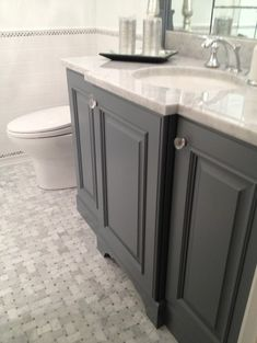 Bathroom Grey Vanity Design, Pictures, Remodel, Decor and Ideas - page 3