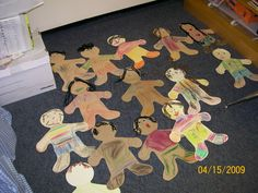 "This was the result of a multicultural lesson plan that I taught during my Kindergarten Practicum. I read ""Everyone's Different, Everyone's the Same"" (a Sesame Street Book about appreciating differences among diversity). Each student received a cut out and googly eyes that were their true eye color! They had a blast decorating themselves!"